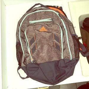Adidas Grey, Blue & Orange Laptop Backpack